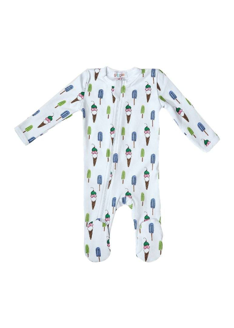 Ice Cream Print Footie Pajamas Giggle
