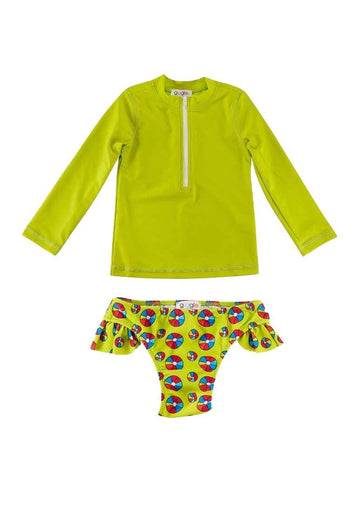 Brinley Girls Swim Set - Beach Ball Swim Giggle