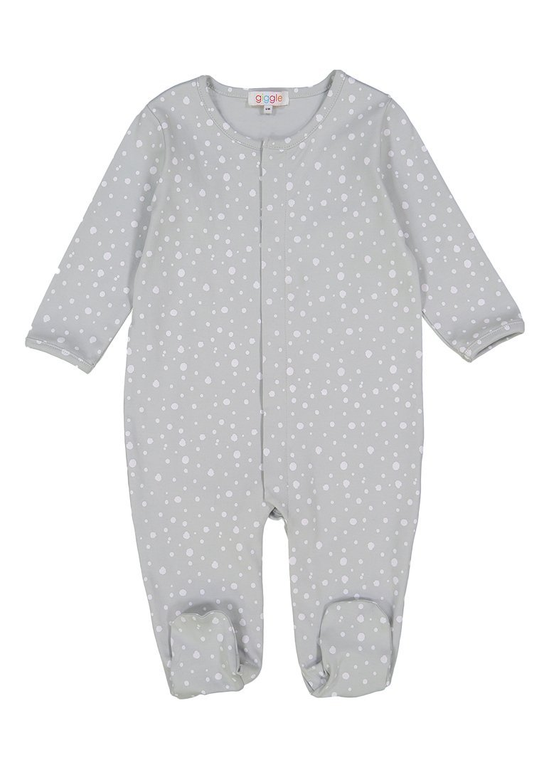 Grey Dot Footie Pajamas Giggle