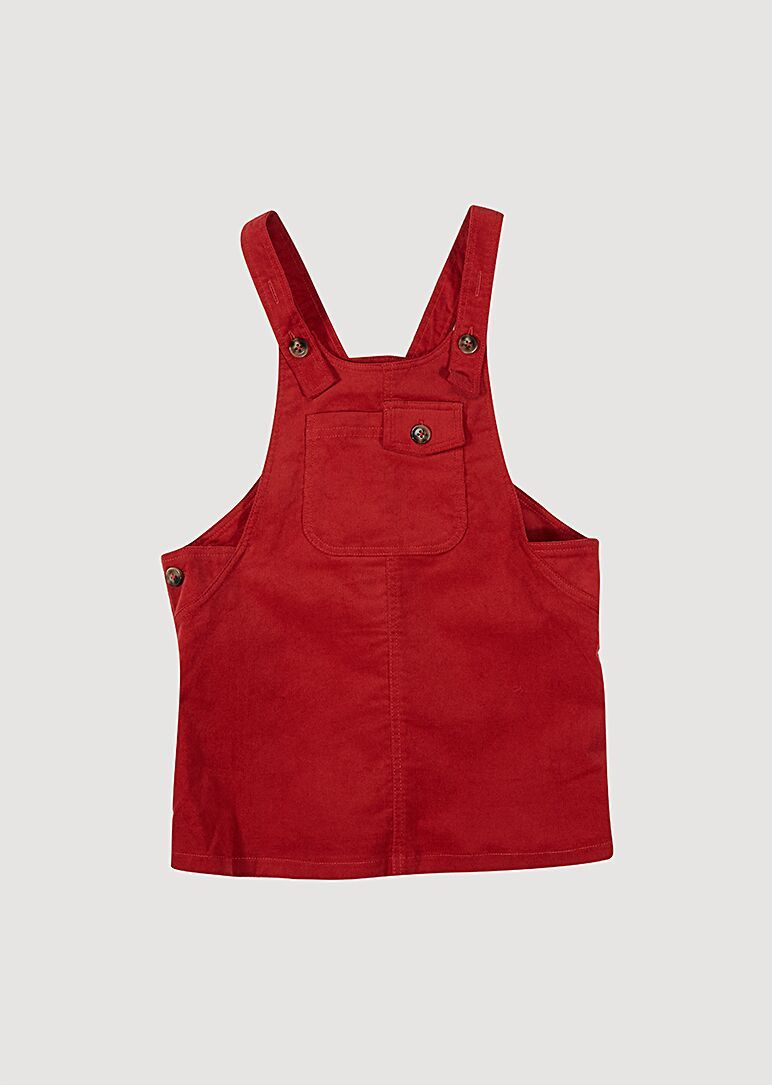 Red Overall Dress Dress Giggle