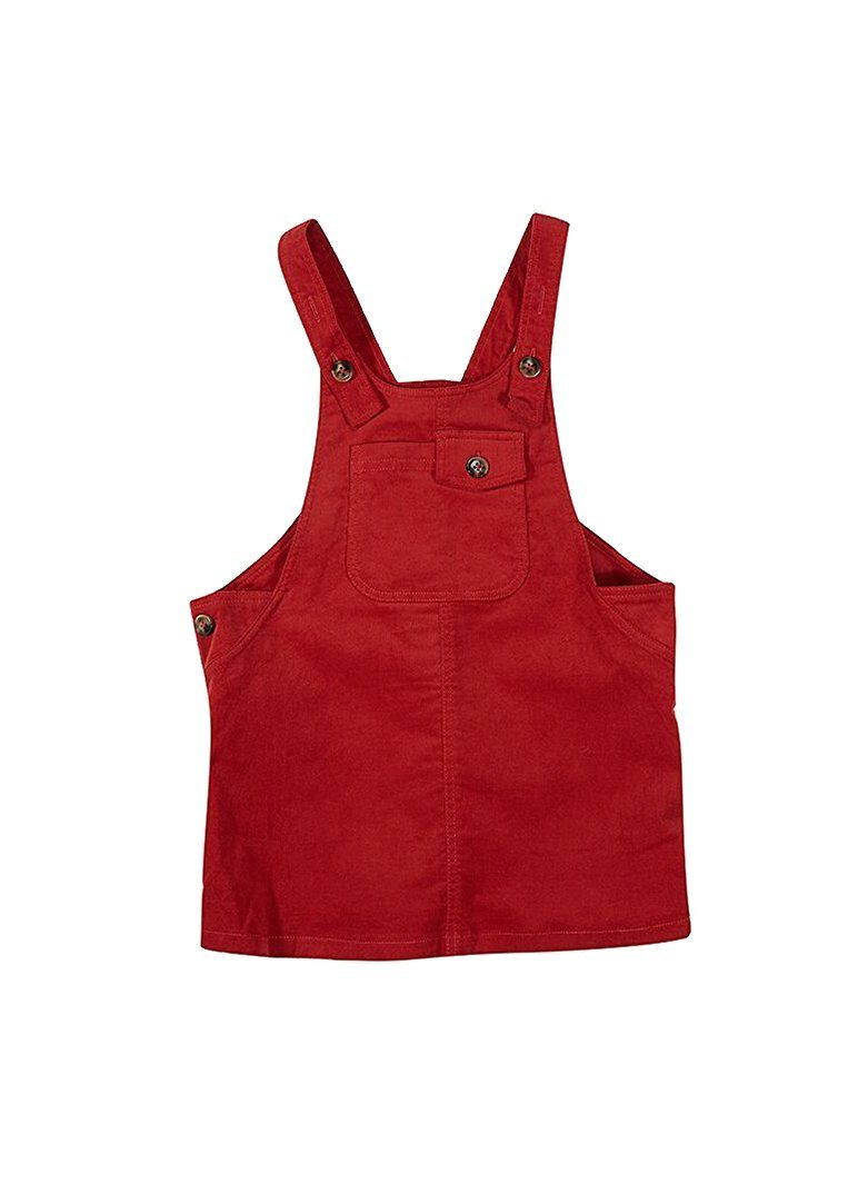 Genevieve Overall Dress - Red Dress Giggle