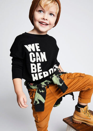 Kids We Can Be Heroes Pullover Sweater Rock Your Baby