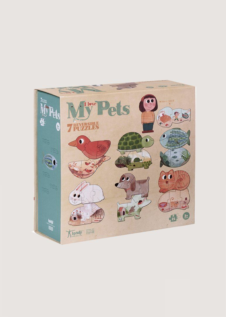I Love My Pets Puzzle - 21 pcs Toy Londji