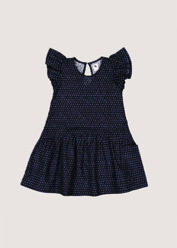 indigo dot dress Dress Lucky Jade 2/3y