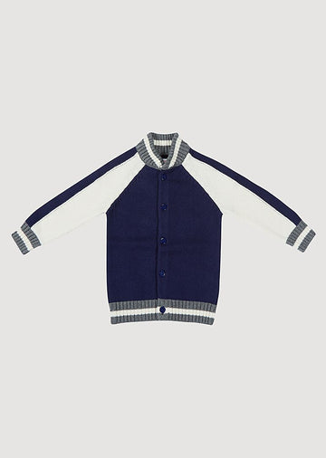 Bentley Varsity Sweater - Navy Outerwear Giggle 6M Navy