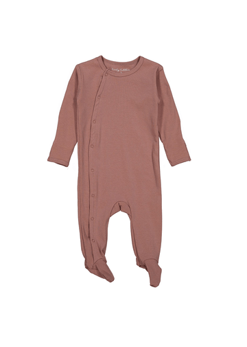 The Cotton Snap Romper - Rosewood Layette Lovely Littles