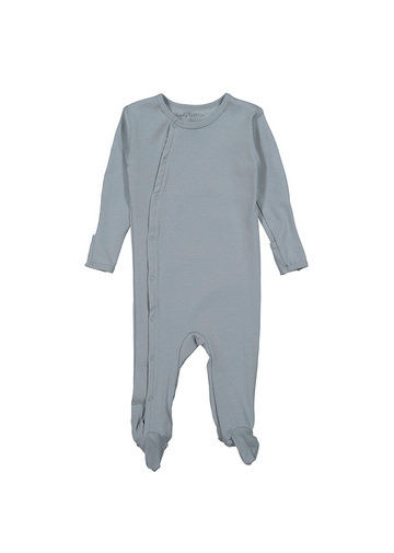 The Cotton Snap Romper - Ocean Layette Lovely Littles
