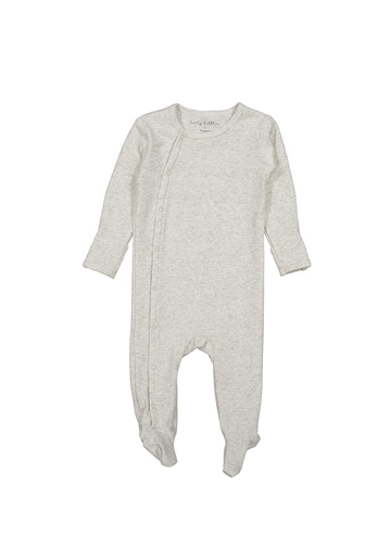The Cotton Snap Romper - Oatmeal Layette Lovely Littles