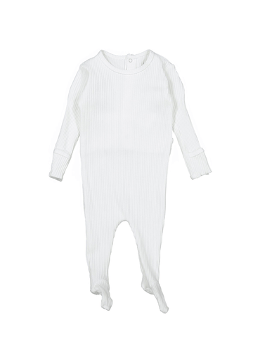 The Ribbed Romper - Bone Layette Lovely Littles