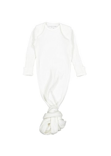 The Ribbed Baby Gown - Bone Layette Lovely Littles