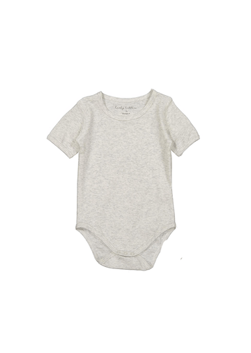 The Cotton Short Sleeve Onesie- Oatmeal Layette Lovely Littles