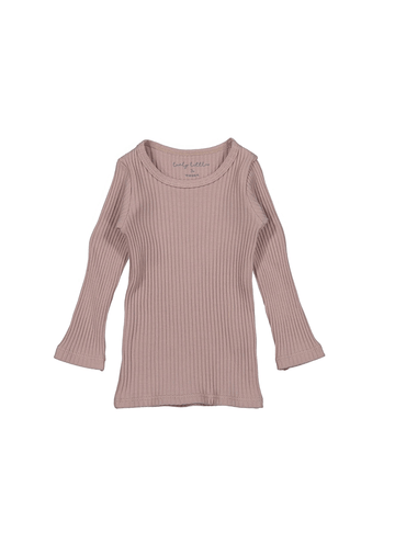 The Ribbed Tee - Mauve Layette Lovely Littles