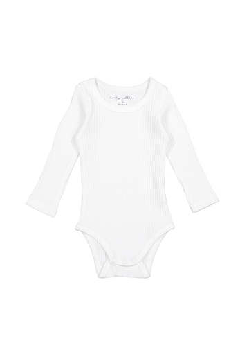 The Ribbed Long Sleeve Onesie - Bone Layette Lovely Littles
