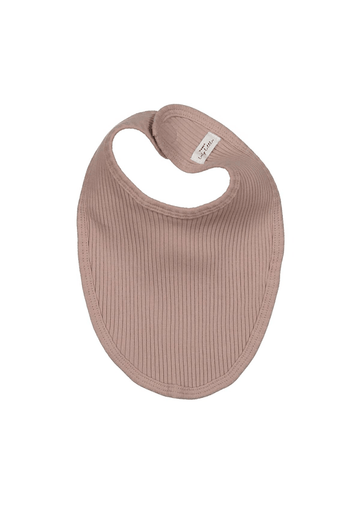 The Ribbed Bib - Mauve Layette Lovely Littles