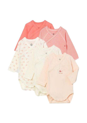 5 pack long sleeve bodysuits Set Petit Bateau