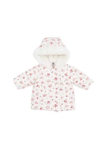 hooded floral jacket Outerwear Petit Bateau