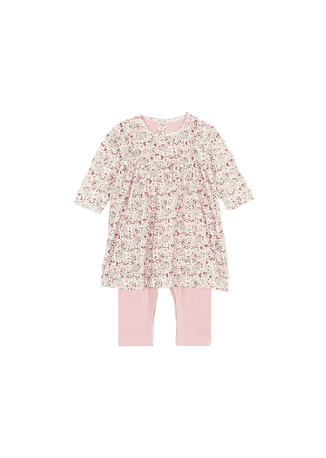 floral dress with leggings Dress Petit Bateau