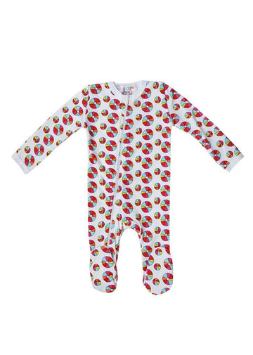Rainbow Beach Ball Footie Pajamas Giggle