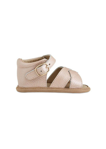 Strappy Leather Baby Sandals - Blush Shoes Babe Basics