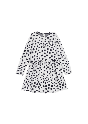 long sleeve dot dress Dress Petit Bateau