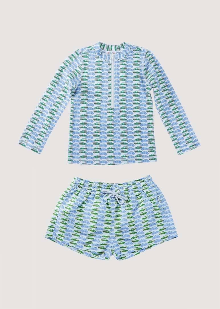 Phillip Boys Swim Set - Vintage Car Swim Giggle 6M Vintage Car