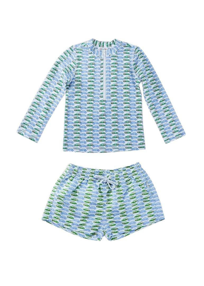 Phillip Boys Swim Set - Vintage Car Swim Giggle