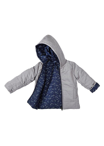 Austin Reversible Fashion Jacket - Grey Planets Outerwear Giggle