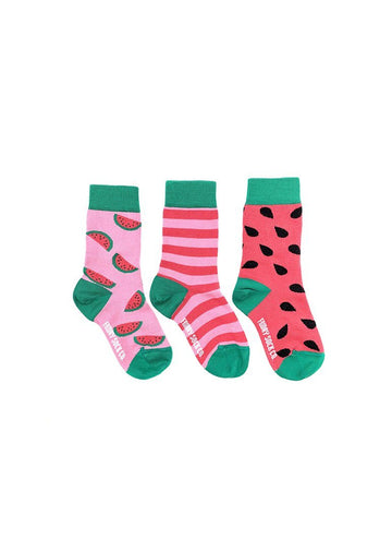 Watermelon & Stripe Sock Set Accessory Friday Sock Co.