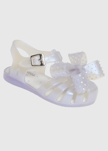 Lilac Pearl Jelly with Bow Shoes Mini Melissa