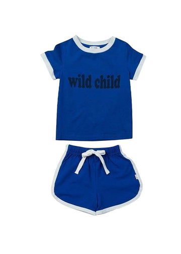 Dakota Retro Short Set - Blue Set Giggle