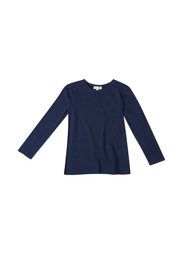 Brooklyn Long Sleeve Tee - Navy Tee Giggle