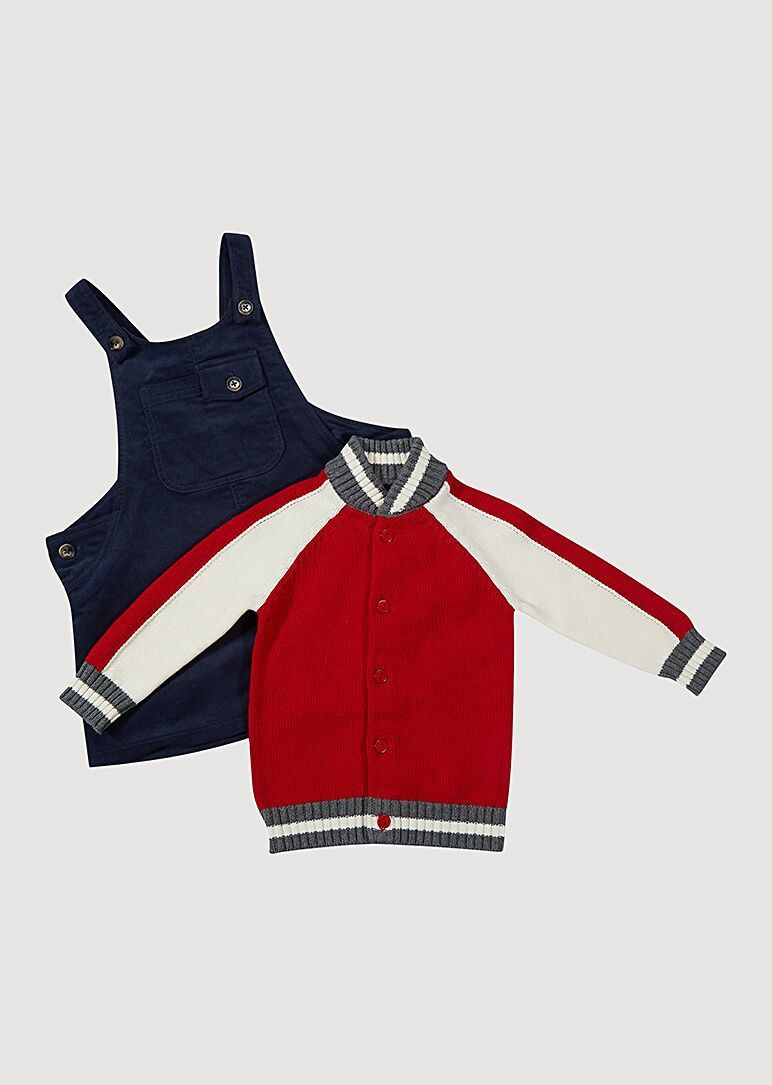 Bentley Varsity Sweater - Red Outerwear Giggle