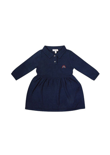 Thea Polo Sweater Dress - Navy Dress Giggle