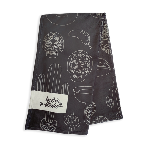Mexican Skulls - Designer Pet Blanket