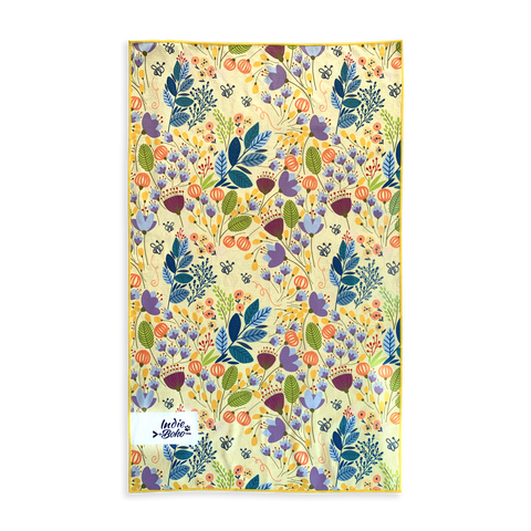 Blooming Bees Pet Travel Towel