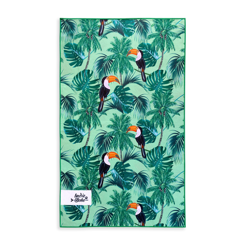 Tropical Toucans Pet Travel Towel