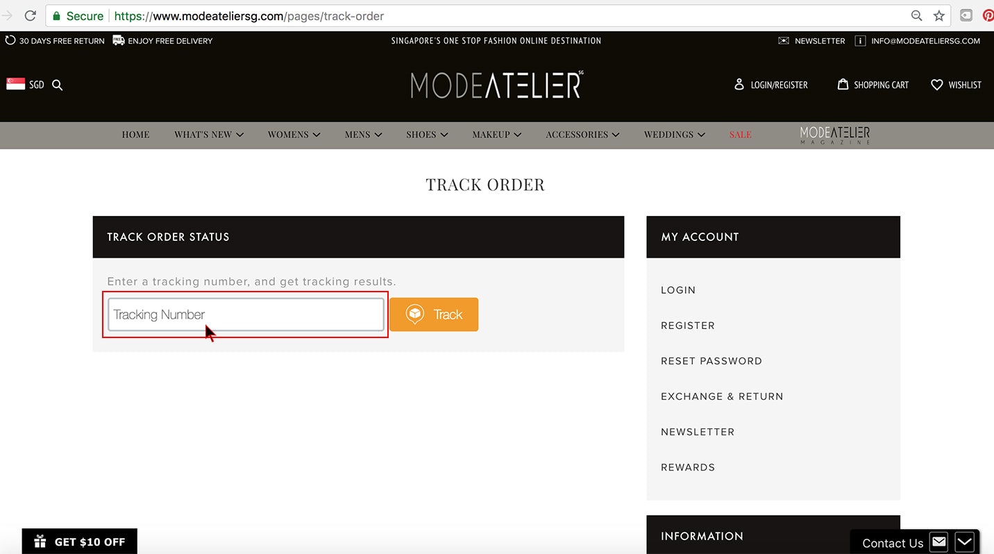 How To Track Order Step 2 - Mode Atelier Sg Online Store