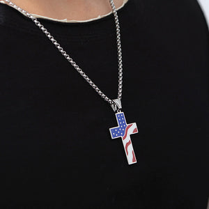 American Flag  Cross Necklace™
