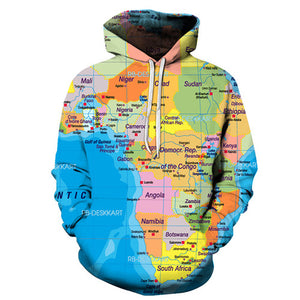 TRAVEL  3D WORLD MAP HOODIE™