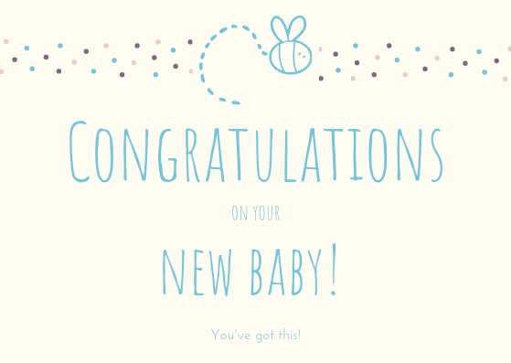 What to write in a new baby card?