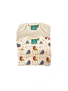 Rainbow Robin Baby Vest 2 Pack Set
