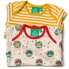 Leo Lion Baby Vest 2 Pack Set