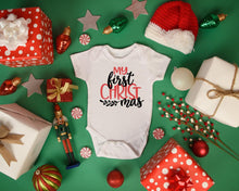 Load image into Gallery viewer, Baby's First Christmas Babygrow