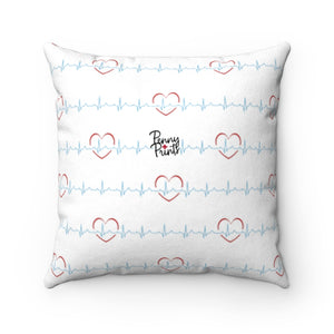 Nurse Girl Faux Suede Square Pillow