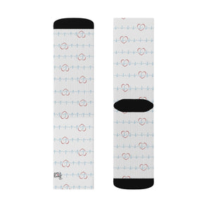 Nurse Girl EKG Tube Socks Sublimation Socks