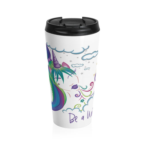 Unicorn Girl Stainless Steel Travel Mug