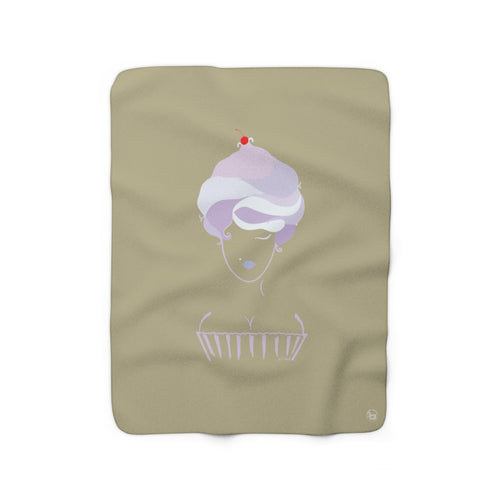 Cupcake Girl Sherpa Fleece Blanket