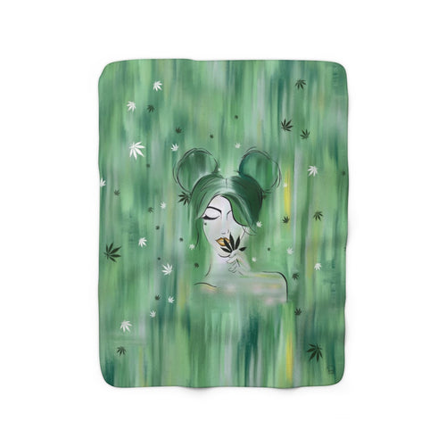 Mary Jane Girl Sherpa Fleece Blanket