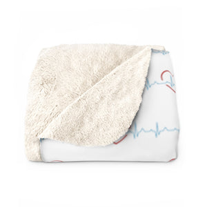 Nurse Girl Sherpa Fleece Blanket