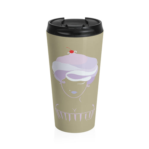 Cupcake Girl Stainless Steel Travel Mug